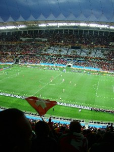 Spain V Switzerland at Durban's Moses Madhiba Stadium