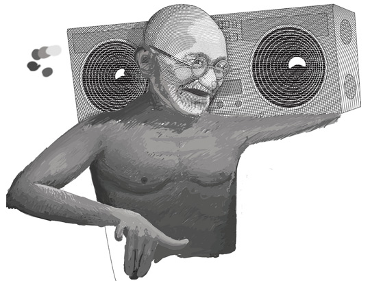 Gandhi drawing from flickr user Nigil Vazquez, all rights reserved